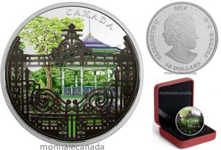 2018 - $30 - 2 oz. Pure Silver Coin - Halifax Public Gardens