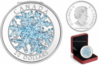 2017 - $20 - 1 oz. Pure Silver Coloured Coin – Snowflake