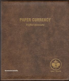 Uni-Safe Coin Album Canada  Paper Currency (Canada)