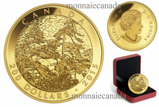 2015 - $200 - 1 oz. Pure Gold Coin – Tom Thomson: Pine Island, Georgian Bay