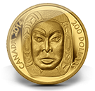 2014 - $200 - Pure Gold Ultra-High Relief Coin - Matriarch Moon Mask