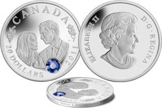 2011 - $20 Fine Silver Coin Prince William and miss Catherine Middlelon Wedding