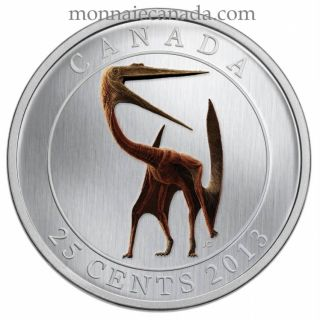 2013 - 25 Cents - Quetzalcoatlus - Prehistoric Creature - Coloured Glow-in-the-dark Coin