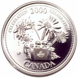 2000 - 25 Cents - Sterling Silver Proof - Celebration