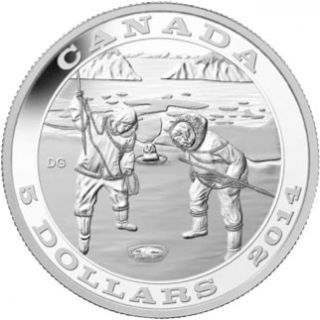 2014 - $5 - Fine Silver Coin - Tradition of Hunting: The Seal