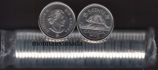 2015 Canada 5 Cents - BU ROLL 40 Coins - UNC