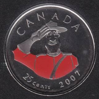 2007 - NBU - Journée du Canada - Canada 25 Cents