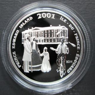 2001 Canada 50 Cents Sterling Silver - Festival of Fathers - Prince Edward Island