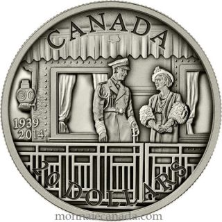 2014 - $20 - 1 oz. Fine Silver Coin - 75th Anniversary of the First Royal Visit