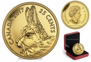 2017 - 25¢ - 0.5 g Pure Gold Coin – Predator vs. Prey Series: Traditional Arctic Hare