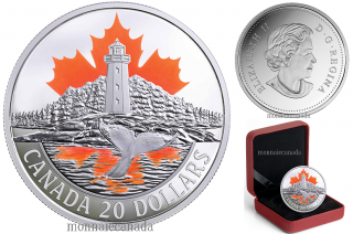 2017 - $20 - Pièce colorée de 1 oz en argent pur - Les côtes du Canada : La côte de l'Atlantique