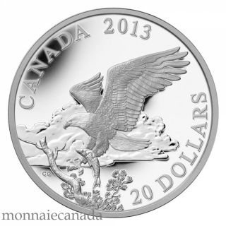 2013 - $20 - 1 oz Fine Silver Coin - The Bald Eagle: Returning From the Hunt