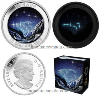 2015 - $25 - 1 oz Fine Silver Glow-in-the-Dark - Star Chart - Eternal Pursuit