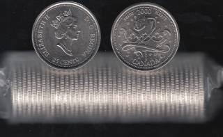 2000 Canada Roll 25 Cents - #1 Pride - B.Unc