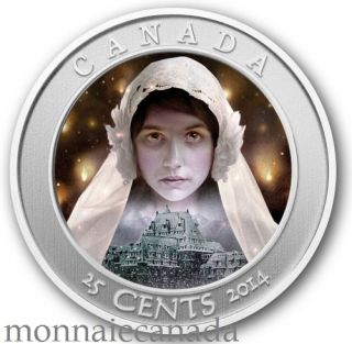 2014 - 25¢¸- Hologram Coloured Coin - Haunted Canada Ghost Bride