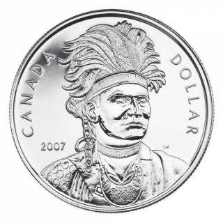 2007 Brilliant Uncirculated Silver Dollar - Joseph Brant (Thayendanegea)