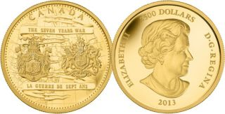 2013 - $2500 - Pure Gold One Kilo Coin - 250th Anniversary of the End of the Seven Years War