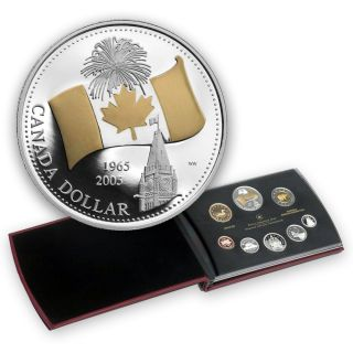 2005 Proof  Set - The 40th Anniversary of Canada's National Flag