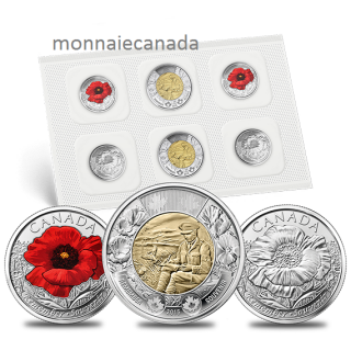 2015 - Remembrance Coin Pack: In Flanders Fields and Poppy