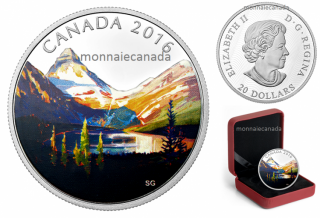 2016 - $20 - 1 oz. Fine Silver Coloured Coin – Canadian Landscape Series: The Lake