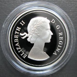 2004 Canada 50 Cents Sterling Silver Coin - 1953 1964 Queen - Coat of Arms