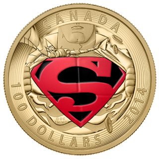 2014 -  $100 14-Kt Gold Coin - Iconic Superman™ Comic Book Covers: The Adventures Superman #596