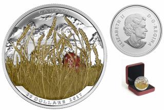 2017 - $20 - 1 oz. Fine Silver Coloured – Landscape Illusion - Pronghorn