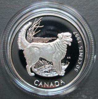 1997 Canada 50 Cents Sterling Silver - Nova Scotia Retriever Dog