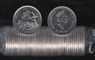 2000 Canada Roll 25 Cents - #10 Creativity - B.Unc