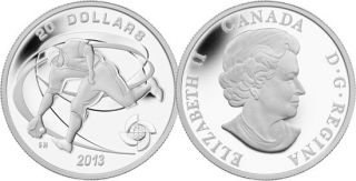 2013 - $20 - 1 oz Fine Silver Coin - Fielder