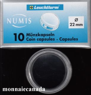 COIN CAPSULES 22 MM
