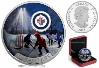 2017 - $10 - 1/2 oz. Pure Silver Coloured Coin – Passion to Play: Winnipeg JetsTM
