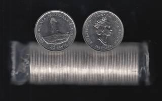 1992 Canada 25 Cents Nova Scotia - BU ROLL 40 Coins - UNC
