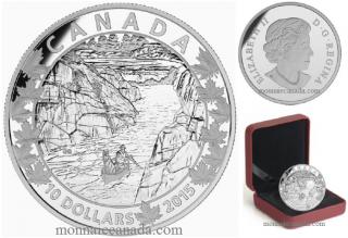 2015 - $10 - 1/2 oz. Fine Silver - Canoe Across Canada - #6 Exquisite Ending