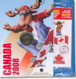 2008 Canada Day 25 Cents Coloured - Moose