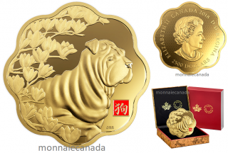 2018 - $2500 - Pure Gold One Kilogram Lunar Lotus Coin - Year of the Dog