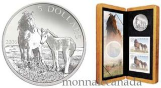 2006 $5 Fine Silver Coin - Sable Island Horse & Foal - Coin & Stamp - TAX Exempt