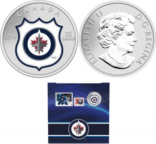 2014 - NHL® Coin and Stamp Gift Set - Winnipeg Jets™