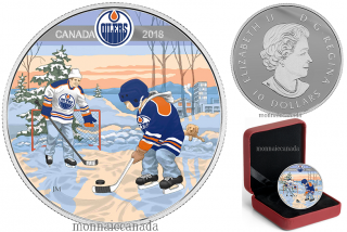 2018 - $10 - Pure Silver Coloured Coin - Learning to Play: Edmonton Oilers®