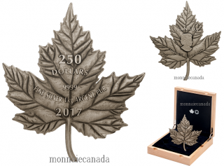 2017 - $250 - Pure Silver One-Kilogram Coin - Maple Leaf Forever
