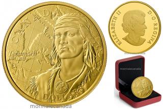 2018 - $100 - 14-karat Gold Coin - 250th Anniversary of the Birth of Tecumseh