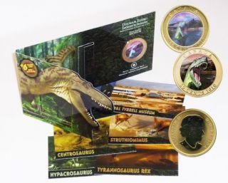2010 - 50 cent Coin - Albertosaurus Dinosaur & Cards