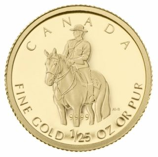 2010 - 50 Cents - Fine Gold Coin - 1/25 Oz RCMP - TAX Exempt