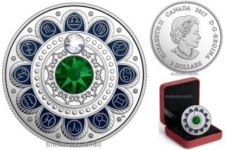 2017 - $3 - Pure Silver coin – Zodiac - Libra