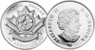 2008 - Limited Edition Sterling Silver Dollar - Poppy - $1