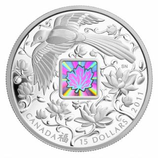 2011 - $15 - Fine Silver Coin - Maple of Happiness