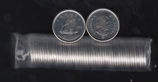 2012 Canada Roll 10 Cents - 50 Coins - UNC