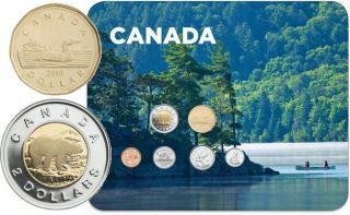 2010 Circulation 6 Coins Collector Card - Canoe