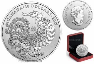 2017 - $10 - 1/2 oz. Pure Silver Coin – Year of the Rooster