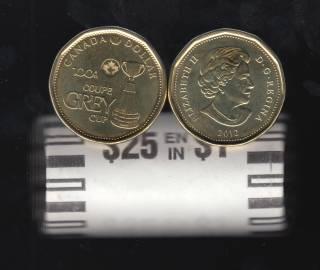 2012 Canada Roll $1 Dollar - Grey Cup - 25 Coins - UNC